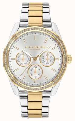 Coach | preston horloge | chronograaf tweekleurig zilver en goud | 14503268