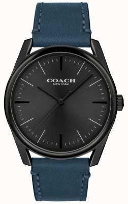 Coach | heren modern luxe horloge | blauwe lederen band | 14602399