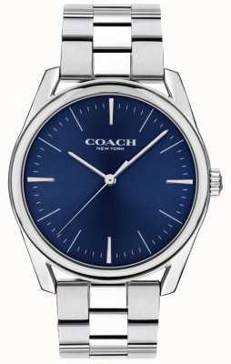 Coach | heren modern luxe horloge | blauwe wijzerplaat in roestvrij staal | 14602401