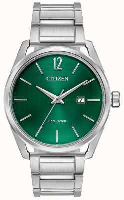 Citizen Groene metalen wijzerplaat met metalen armband voor heren BM7410-51X