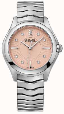 EBEL Wave roestvrijstalen armband met roze wijzerplaat 1216303