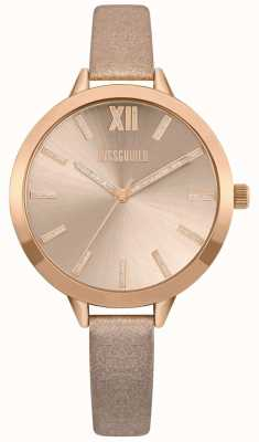 Missguided | womens nude en rose gold strap | rose gouden wijzerplaat | MG005CRG