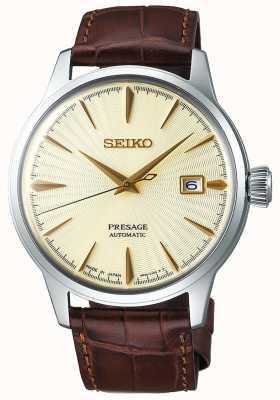 Seiko | heren | presage | automatisch | bruine lederen band | SRPC99J1