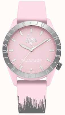 Hype | de roze / grijze siliconeliem van vrouwen | roze wijzerplaat | HYL008PS