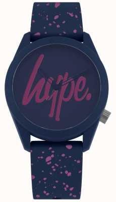 Hype | damesschoen van navy purple paint voor dames | navy / purple dial HYL001UP