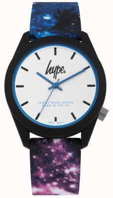 Hype | blauw en paars galaxy print siliconen | Ex display HYU009BV Ex-Display