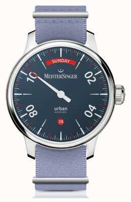 MeisterSinger Stedelijke dag datum | horloge met twee banden | URDD908