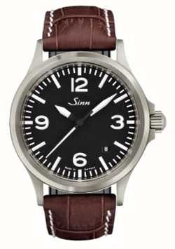 Sinn 556 een sportief saffierglasbruin reliëfleder 556.014 BROWN ALLIGATOR STYLE WHITE STITCH
