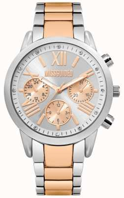 Missguided | dames two tone horloge | armband in zilver en roségoud | MG008SRM
