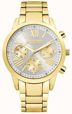 Missguided | dames gouden chronograaf horloge | MG008GM