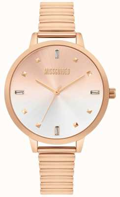 Missguided | dames rose gouden horloge | MG012RGM