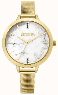 Missguided | dames gouden mesh horloge | MG011GM