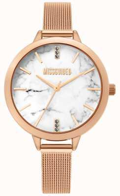 Missguided | dames roségaas mesh horloge | MG011RGM