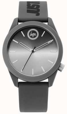 Hype | mens grijs siliconen horloge | HYU020EE