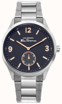 Ben Sherman | heren roestvrij stalen horloge | blauwe wijzerplaat | BS020SM