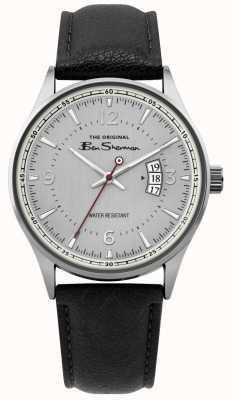 Ben Sherman | mens silver mesh script horloge | BS008B