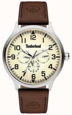 Timberland | herenblanchard | bruine lederen band | crème wijzerplaat | 15270JS/14