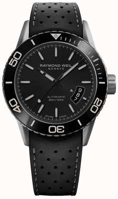 Raymond Weil | freelancer voor heren | zwarte rubberen band | ex-weergave-item | 2760-TR1-20001-EXDISPLAY