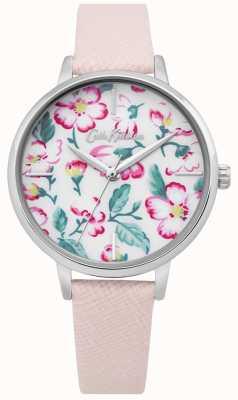 Cath Kidston | womens climbing blossom watch | roze leer | bloemen wijzerplaat CKL069P
