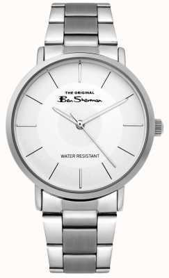 Ben Sherman | mens script horloge | roestvrijstalen armband | witte wijzerplaat BS014SM