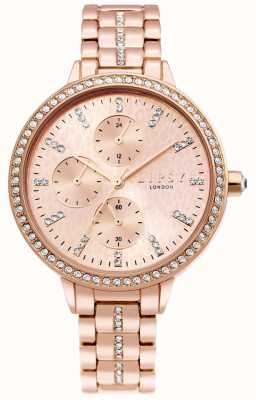 Lipsy | dames rosé gouden stalen armband | rose gouden wijzerplaat | LP630