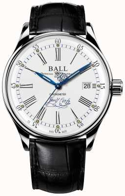 Ball Watch Company Trainmaster endeavour chronometer limited edition leer NM3288D-LL2CJ-WH