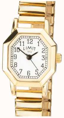 Limit   uitbreidbare armband voor dames in goudkleur   witte wijzerplaat   6498