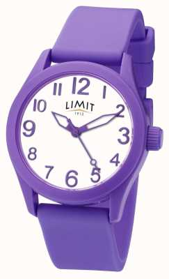Limit | paarse siliconen armband | witte wijzerplaat | 5722