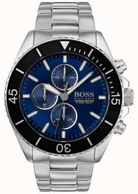 Hugo Boss   mens ocean edition   zilver roestvrij staal   blauwe wijzerplaat   1513704