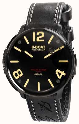 U-Boat Capsoil dlc elektromechanica zwart lederen band 8108
