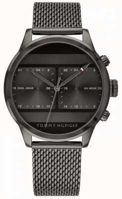 Tommy Hilfiger | zwarte herenhorloge met zwarte wijzerplaat | 1791597