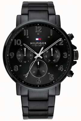 Tommy Hilfiger | heren zwart daniel horloge ip finish | 1710383