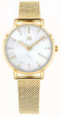 Tommy Hilfiger | gold mesh lily watch dames | 1782043