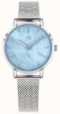Tommy Hilfiger | dameslelie horloge | roestvrijstalen gaas | blauwe wijzerplaat | 1782041