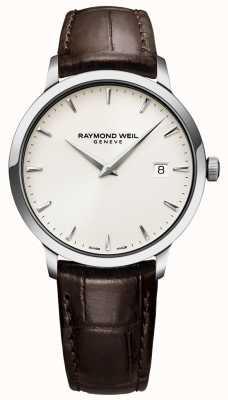 Raymond Weil | heren bruin lederen toccata horloge | 5488-STC-40001