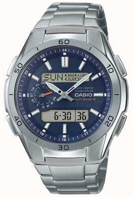 Casio | mens radiografisch bestuurd | titanium chronograaf horloge | WVA-M650TD-2A2ER