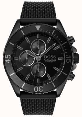 Boss | mens ocean edition | zwarte wijzerplaat | zwarte riem | 1513699