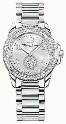 Thomas Sabo | roestvrij staal dames glam & soul horloge | zilveren wijzerplaat | WA0235-201-201-33