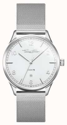 Thomas Sabo | armband in edelstaal zilvergaas | witte wijzerplaat | WA0338-201-202-40