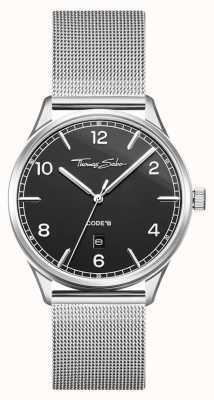 Thomas Sabo | armband in edelstaal zilvergaas | zwarte wijzerplaat | WA0339-201-203-40