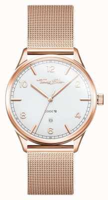 Thomas Sabo | roestvrijstalen rosé gouden armband | witte wijzerplaat | WA0341-265-202-40