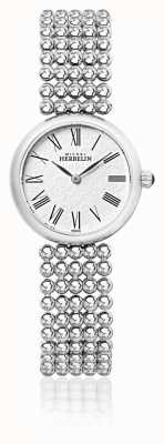 Michel Herbelin Dames 27mm roestvrij stalen armband parel wijzerplaat 17483/B08