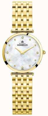 Michel Herbelin | dames | epsilon | parelmoer wijzerplaat | gouden armband | 17116/BP89