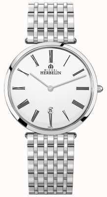 Michel Herbelin | heren | epsilon | extra platte roestvrijstalen armband | 19416/B01N
