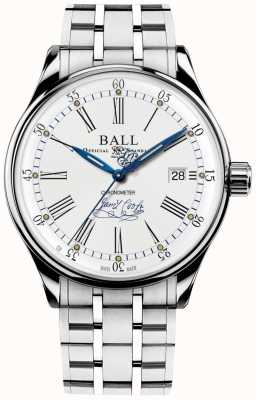 Ball Watch Company Trainmaster endeavour chronometer armband in beperkte oplage NM3288D-S2CJ-WH