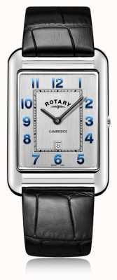 Rotary | heren zwarte lederen band datum | GS05280/70