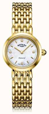 Rotary | dames gouden armband | parelmoer wijzerplaat LB00900/41/D