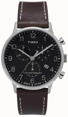 Timex | heren waterbury classic chrono | zwarte wijzerplaat | TW2T28200D7PF