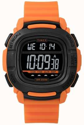 Timex | boost shock oranje en zwart digitaal | TW5M26500SU