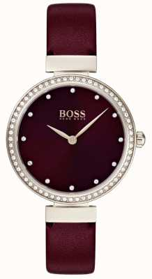 Hugo Boss | dames bordeaux lederen band 1502481